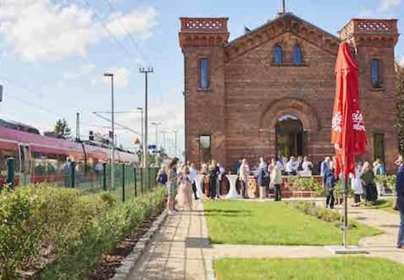 Sanierung denkmalgeschützter Kaiserbahnhof Halbe