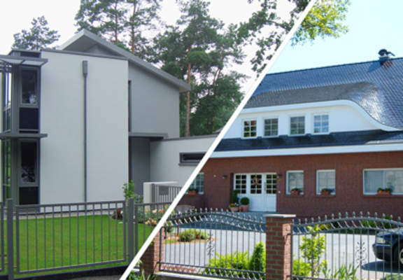Zweigeschossige Einfamilienhäuser